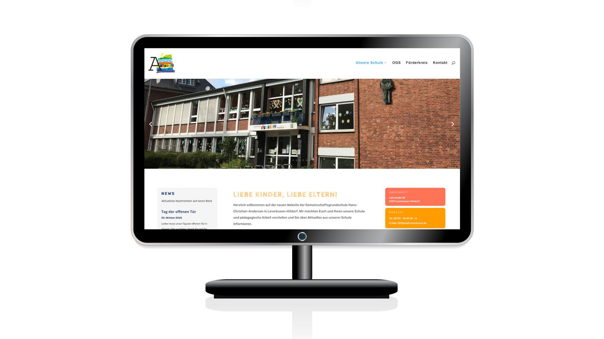Neue Website für die Hans-Christian-Andersen Grundschule in Leverkusen Hitdorf