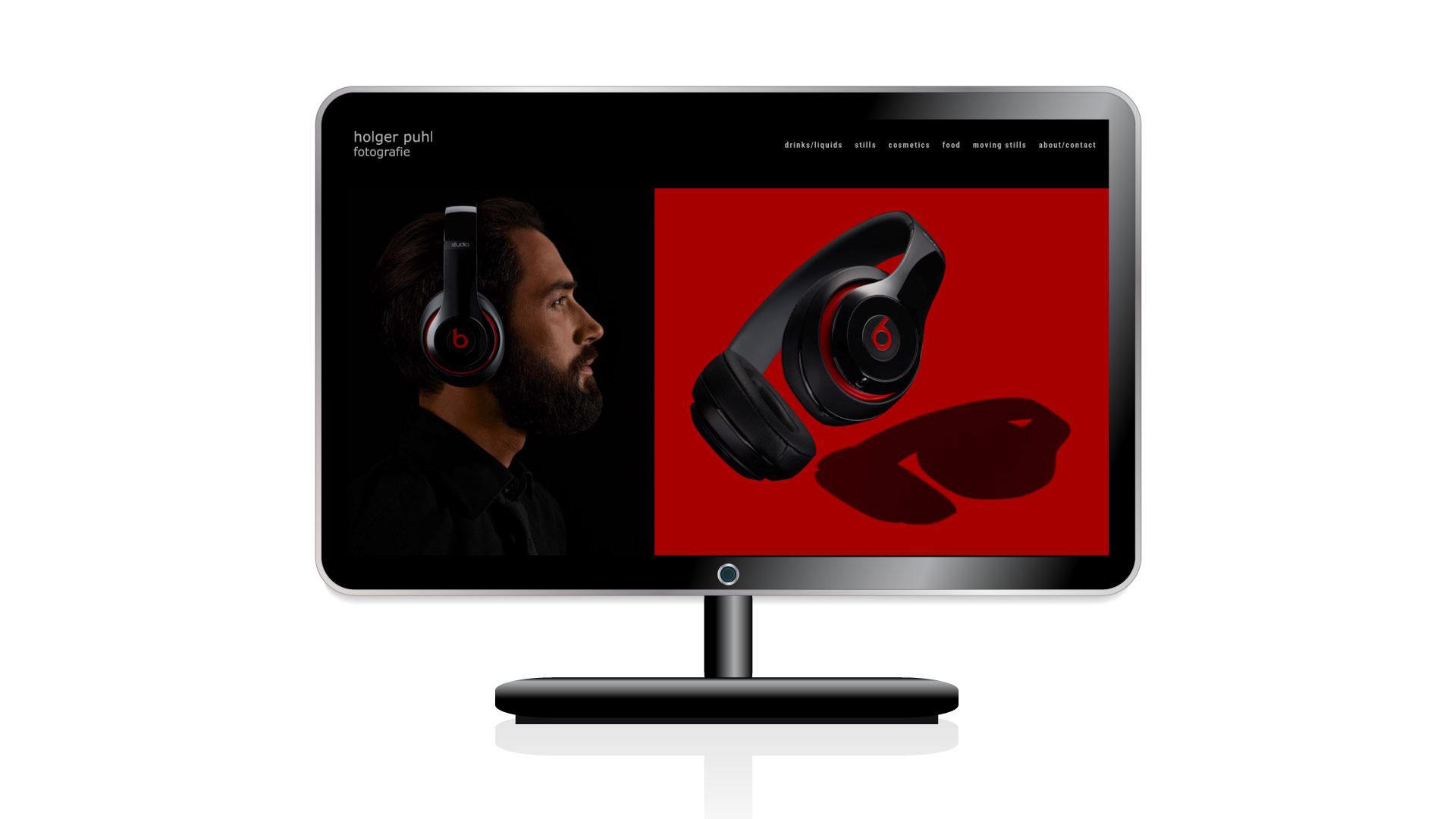 Website für den Werbefotografen Holger Puhl, Düsseldorf